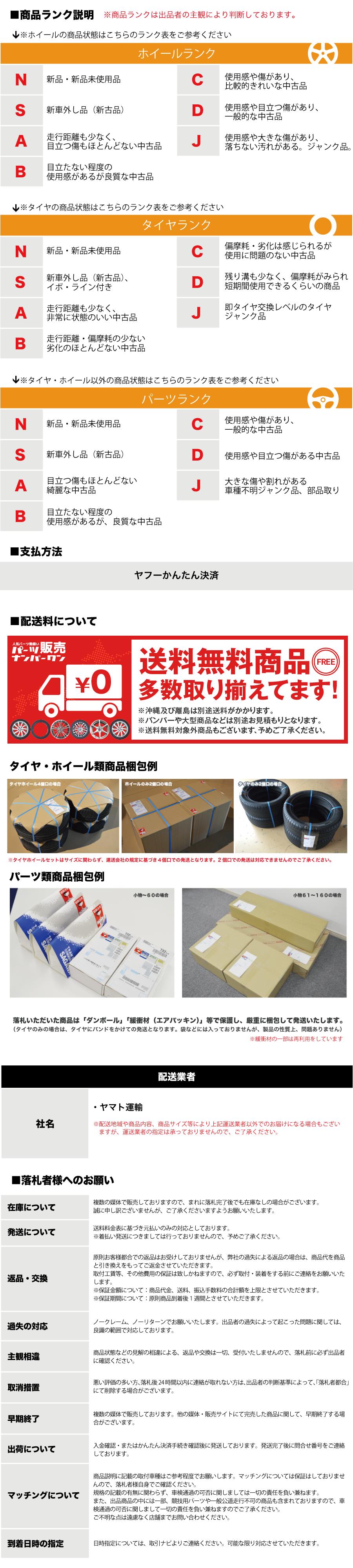 パーツ販売ナンバーワン送料画像(昭島店タイヤ・ホイール)